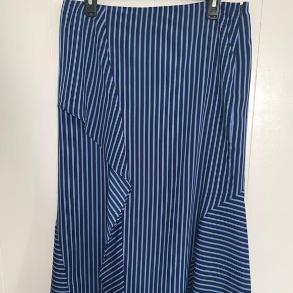 Banana Republic Dresses & Skirts - 🎁4-25$Banana Republic striped ruffled long skirt